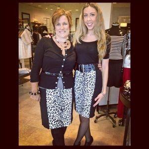 White House Black Market cheetah pencil skirt!